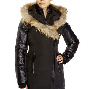 Winter Jacket With Leather Sleeves